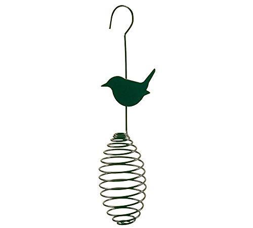 Esschert Design Futterfeder für Meisenknödel Vogelfutter-Spirale für Futterbälle Vogel Metall Grün B