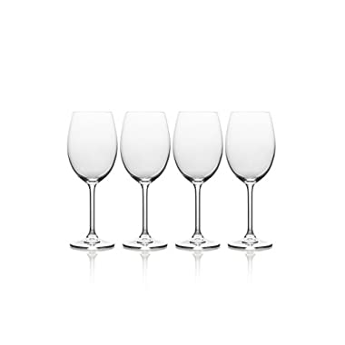 Mikasa Julie White Wine Glass, 16.5-Ounce, Set of 4