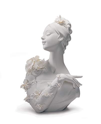 LLADRÓ Busto Mujer My Fair Lady. Figura Busto De Mujer de Porcelana.