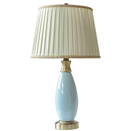 Lampe de table F Lampe de table chambre minimaliste moderne lampe de chevet en céramique chaude dimmable