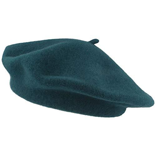 Breiter Damen Baskenmütze | Damenmütze | Wollmütze für Frauen - aus 100% Wolle - Woolmark® - besonders weich & angenehm – One Size