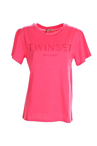 TWIN SET COLLEZIONE 211TT2230 00779 Rosa Neon Twin Set T-Shirt Donna XS