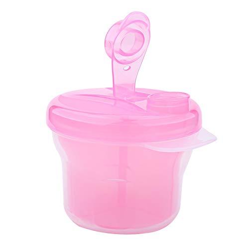 Ecologico, dispenser per latte artificiale, custodia per latte in polvere, dimensioni compatte, grande capacità,(Pink)
