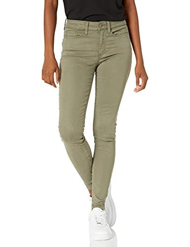 Amazon Brand - Daily Ritual Women's Stretch Sateen Skinny-Fit Pant, dusty olive, 10