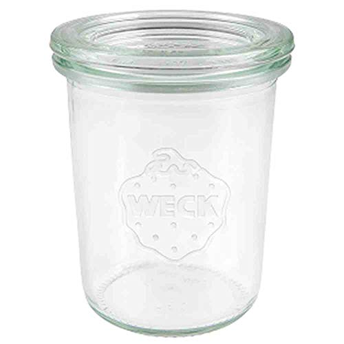 12 Weck 160ml Sturzgläser RR60 mit Glasdeckel in Original Karton