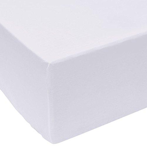 vidaXL Draps de lit 2 pièces 180 x 200 cm Coton Blanc