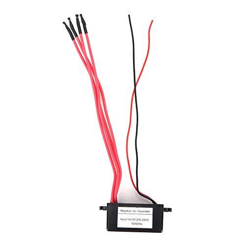 SunshineFace Generador de Iones Negativos en El Hogar Módulo Ionizador Mini Purificador de Aire 4 Líneas Negativas (Ac200-240V)
