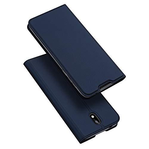 DUX DUCIS Hülle für Nokia 1.3, Leder Flip Handyhülle Schutzhülle Tasche Case mit [Kartenfach] [Standfunktion] [Magnetverschluss] für Nokia 1.3 (Blau)