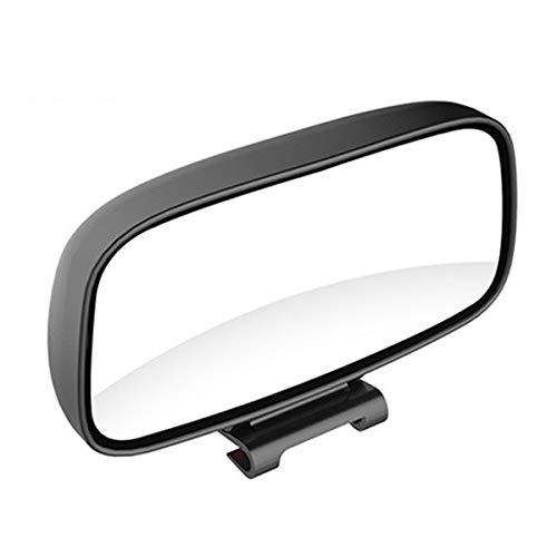 Nicoone 1 Pieza Espejo Retrovisor Ajustable de Gran Angular de Rotación de Punto Ciego para Coche Universal-Negro