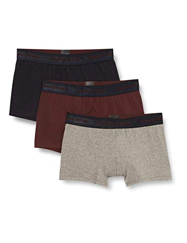 Marc O'Polo Body & Beach Herren Multipack M-Shorts 3-Pack Retroshorts, Burgund, L