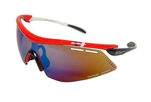 Briko Herren Endure PRO Team 2 Lenses Brille, 951 red blk white-PM3P1, One Size