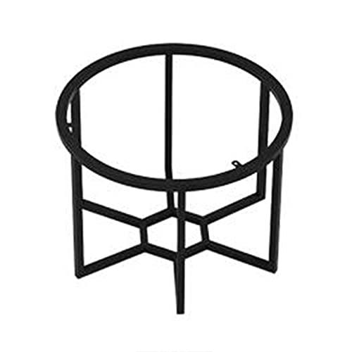 WFENG Mesa Auxiliar Redonda Patas de Hierro Forjado de Metal,Mesa de Centro de Diseño Industrial Vintage,Para Mesa de cóctel/Sala de Estar/Negro / W40cm×H43cm
