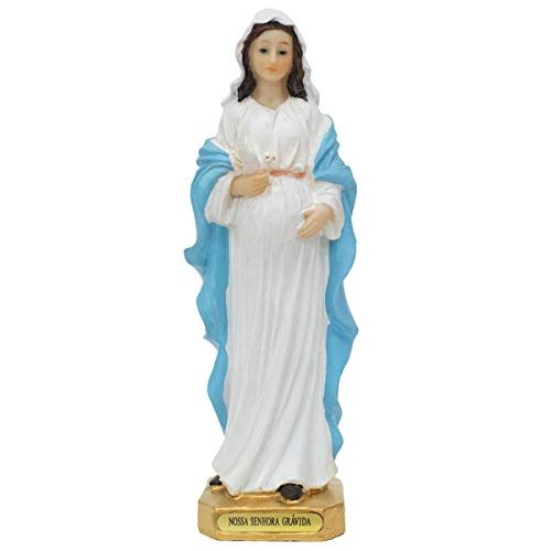 Imagem Nossa Senhora Grávida 20,3cm Enfeite Resina Realistas