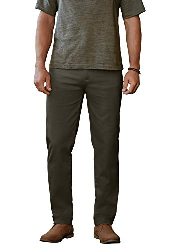Liberty Blues Men's Big & Tall Relaxed Fit 5-Pocket Stretch Jeans - Big - 68 38, Charcoal Olive
