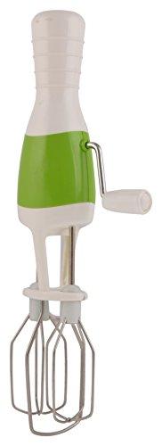 Ankur Plastic Manual Hand Blender, White and Green