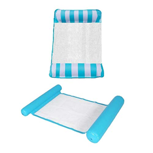 Milageto 2X Deluxe Water Hamack Pool Beach Travel Inflable Summer Toy Pillow Mat Pump