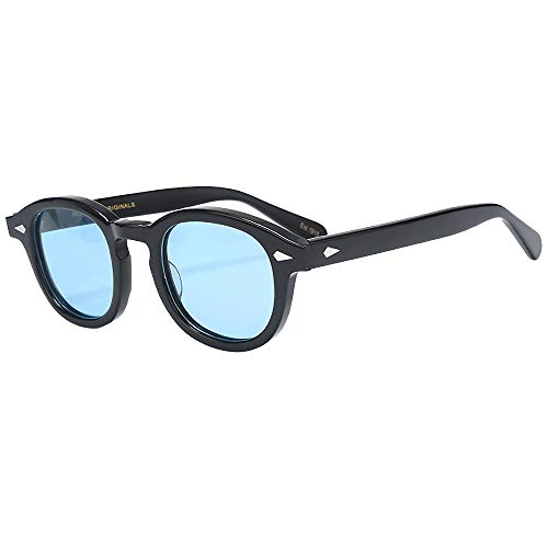 SHEEN KELLY Gafas de sol vintage Johnny Depp Gafas de sol ovales Moda Hombre Mujer Gafas de sol Tony Stark lente transparente