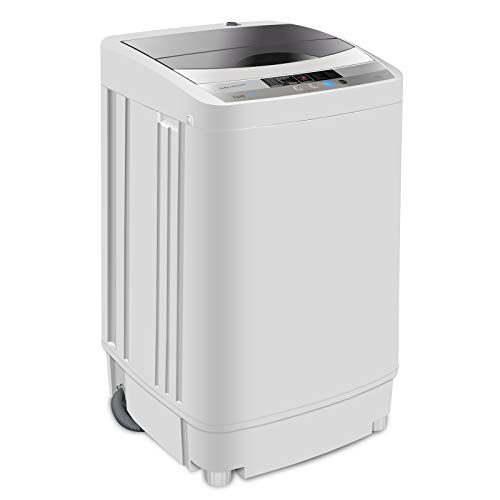 SUPER DEAL Newest Portable Full-Automatic Washing Machine 1.6 Cu. ft. Laundry Washer...
