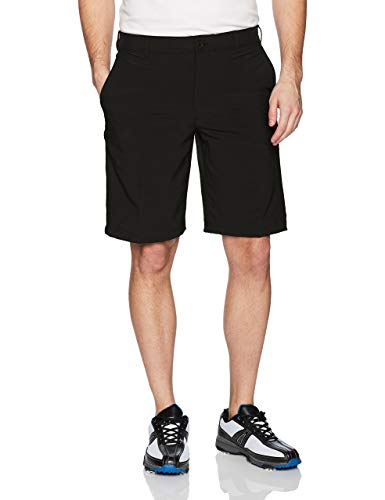 IZOD Men's Golf Swing Flex Stretch Flat Front Short, black, 36