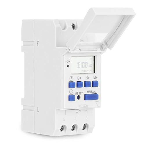 Andraw Automatischer Schalter, flammhemmendes hochwertiges ABS-Material, Mikrocomputer-Timer EIN/aus, für den Haushalt(AC220V)