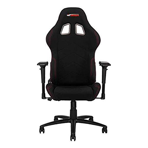 GT Omega PRO Racing Fabric Gaming Chair with Lumbar Support - Breathable & Ergonomic Office Chair with 4D Adjustable Armrest & Recliner - Esport Seat for Ultimate Gaming Experience - Black