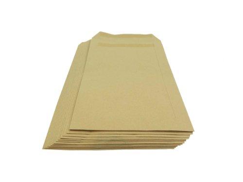 Packitsafe 20 sobres tamaño A5 de 229 mm x 162 mm con autocierre Manilla (marrón) estándar de papel ✅