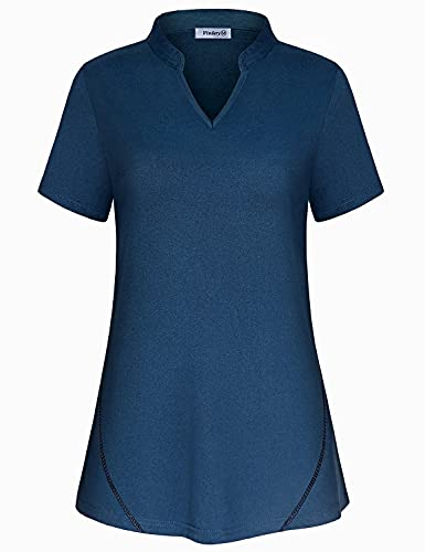 Plus Size Athletic Tops for Women Golf Polo Shirts Moisture Wicking Workout Yoga Tshirt Tennis