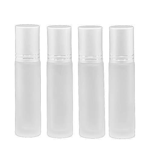 Dealglad 12 botellas de 10 ml con rodillo de cristal para perfumes, cosméticos y aceites esenciales
