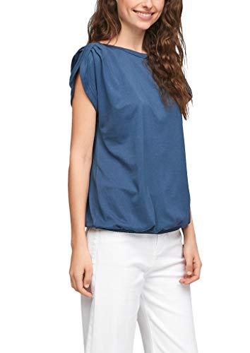 s.Oliver Damen Jerseyshirt in O-Shape Faded Blue 48