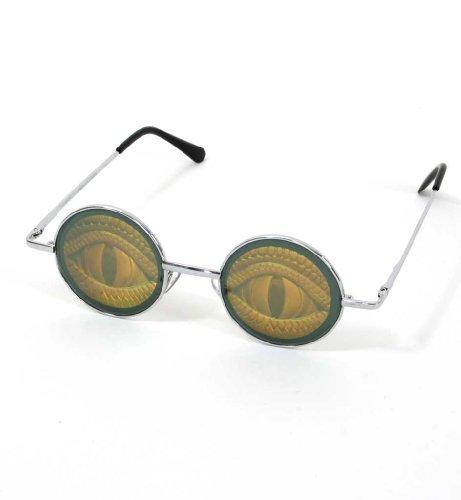 KarnevalsTeufel Hologramm-Brille Augen, Reptil, Schlange