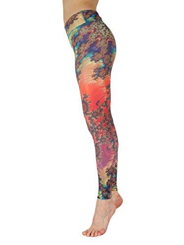 Niyama Tribal Maori Yoga Pant for Women Compression Legging. Shaping Maori Magic