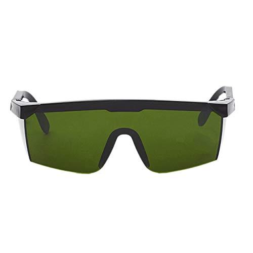 Tsubaya Occhiali protettivi con Protezione Laser Occhiali per PC Saldatura Occhiali Laser Occhiali protettivi per Occhi Occhiali Unisex con Montatura Nera Occhiali Resistenti alla Luce - Verde Scuro