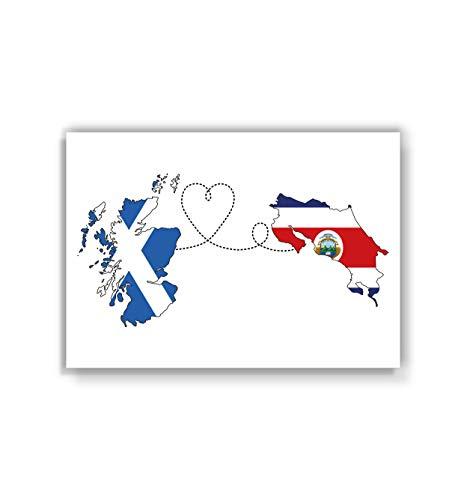 Scotland to Costa Rica Poster - Travel print