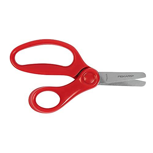 Fiskars 194160-1067 Kid Scissors Blunt Tip 5 Inch, Red