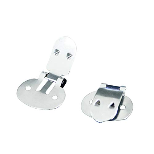 SUPVOX 20 stücke Edelstahl Leere Schuhclips DIY Handwerk Falten Schnallen Erkenntnisse Zubehör (Große Größe)