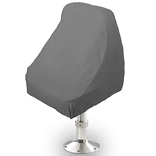 North East Harbor BSC-001 Seat Storage Cover (Boat Helm Helmsman Bucket Single 21' L X 24' W X 24' H Gray)