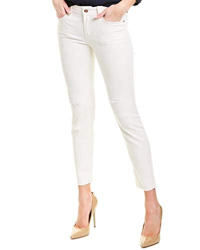 Escada SE Apparel J492 Jeans Skinny, Elfenbein (off-White A101), W34 Donna