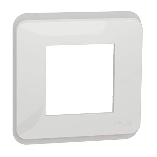 Unica Pro - Placa de acabado, color blanco, 10 módulos