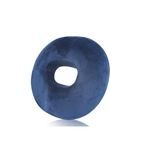 CANDYANA Cojín Donut Ring Cojín Ortopédico De Espuma Viscoelástica Cojín Antiescaras para Aliviar La Presión De Las Hemorroides,Azul,45x41cm
