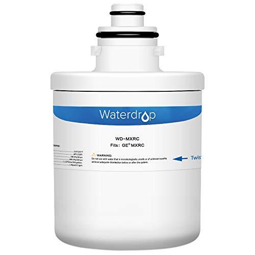 Waterdrop Refrigerator Water Filter, Compatible with GE MXRC, FXRC, FXRT, HXRC, 9905, 46-9905 & 1E1013