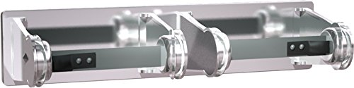 ASI 0715 Double Surface Mounted Toilet Tissue Holder, Chrome-Plated Steel