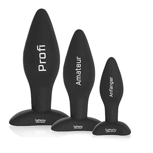 Deluxe Silikon Butt Plug Set - Analplugs mit Standfuss