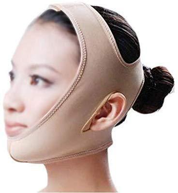 Mnjin V Face Slim Lifting Ceinture Lifting Soins de la Peau Lift Réduire Double Menton Ceinture Thining Ceinture (Taille: XL)