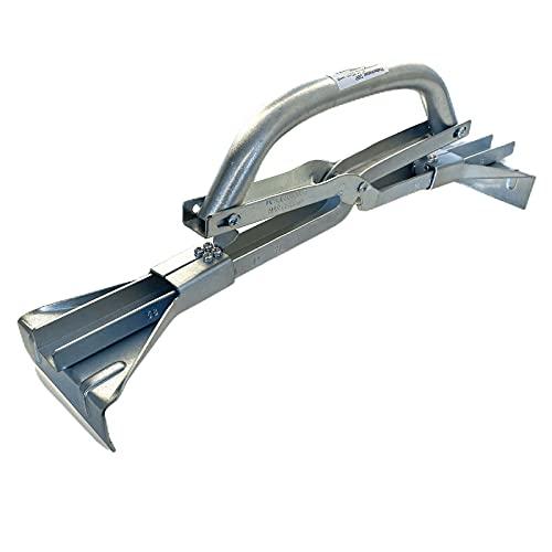 Haromac 7180060 Profi Porte-Plaque Réglable, Argent, 40-60 cm