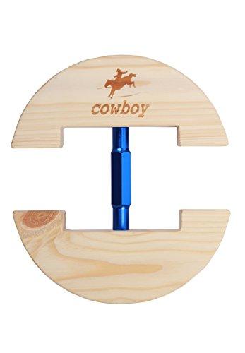 Cowboy®, bunter, verstellbarer und strapazierfähiger Hutspanner, Größe S: 16,5 bis 24 cm, Größe L: 19 bis 27 cm., holz, blau, S