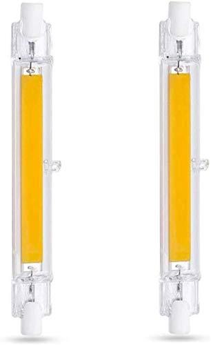 R7S LED 118mm 10W Warmweiß 3000K, 1000LM, Ersetzt für R7S J118 80W 100W Halogenstab, 360-Grad-Licht, Nicht Dimmbar, Stablampe R7S 118mm COB LED Slim für Wandleuchte/Flurbeleuchtung, 2er-Set