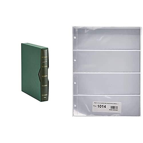 Pardo 127504 Album para colección de artículos, color verde + 101400 Pack...