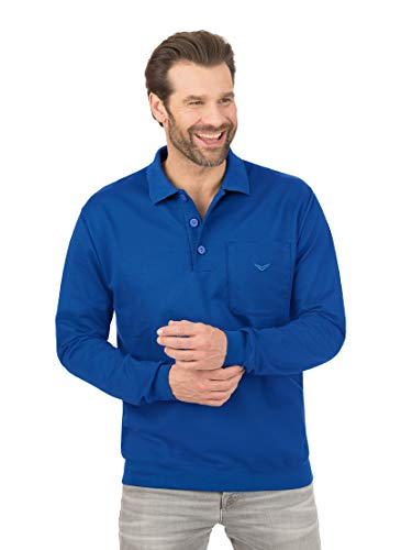 Trigema Herren 674602 Polo-Pullover, royal, M