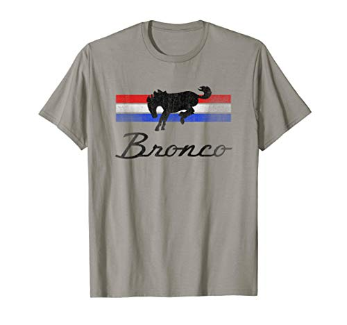 Ford Bronco Logo Stripes T-Shirt