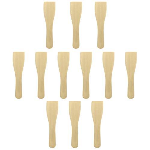 Cabilock - Set di 20 spatole antiaderenti per cucinare e mescolare utensili da cucina in legno, ideali per padelle e wok (colore legno)